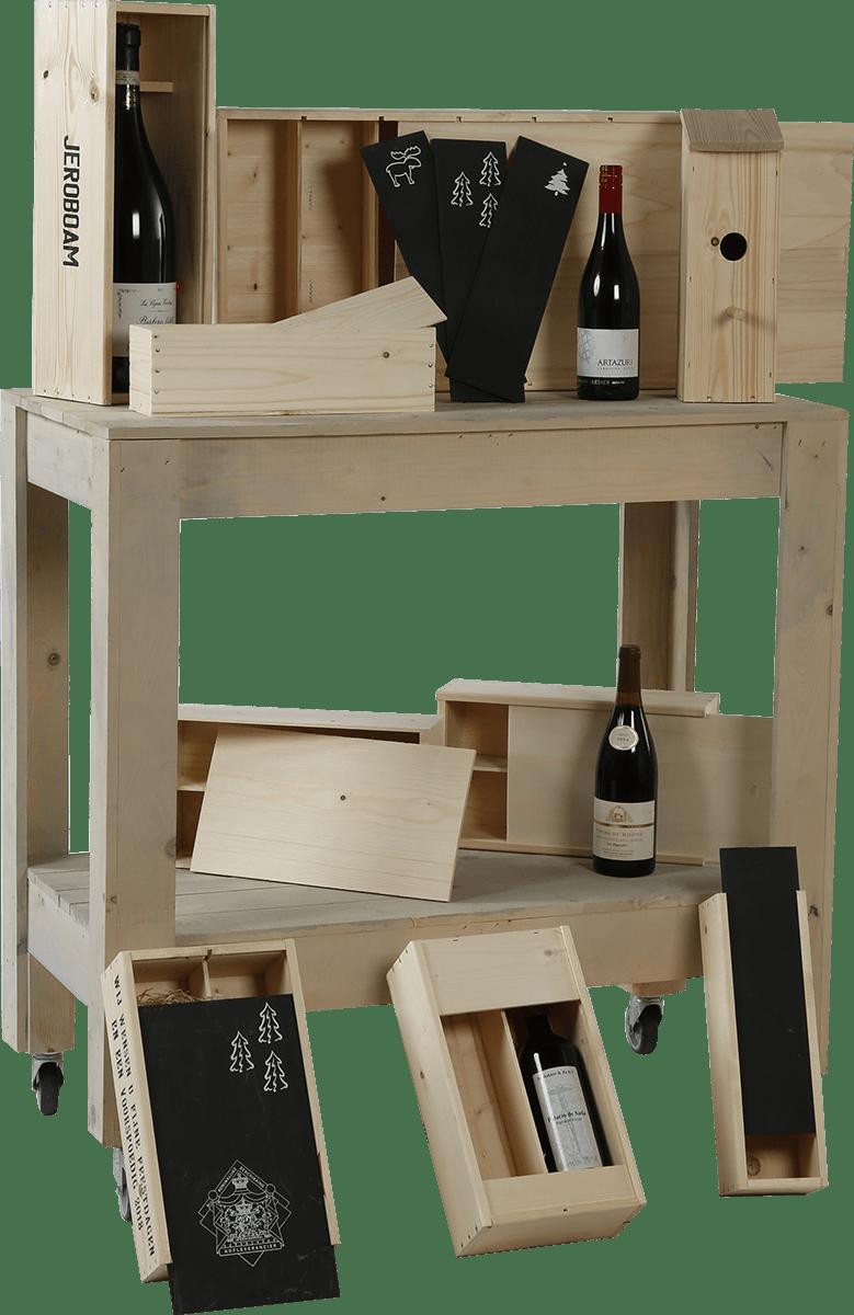Wijnkisten en geschenkverpakkingen